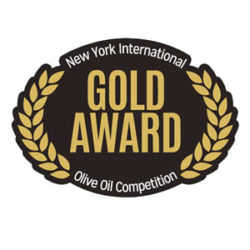 """Medalla de Oro ""New York Olive Oil Competition 2015"""