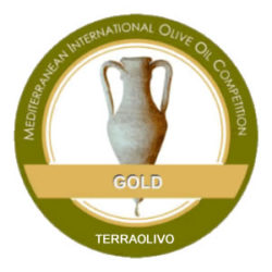 "Medalla de Oro ""Mediterranean International Olive Oil Competition- Terraolivo 2016"""