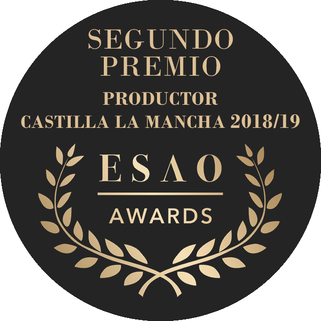 "Second prize for EVOO Picual in the category of ""Best EVOO of Castilla la Mancha produced by producer"""